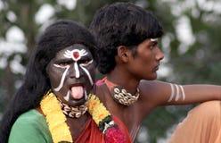 Retrato de um dançarino tribal indiano Imagens de Stock Royalty Free