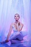 Retrato de um dançarino de bailado bonito. Fotos de Stock Royalty Free