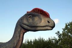 Retrato de um dinossauro, feito nos dinossauros do parque em Leba, Polônia Imagens de Stock