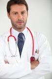 Retrato de um doutor de hospital foto de stock royalty free