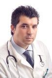 Retrato de um doutor masculino novo imagem de stock