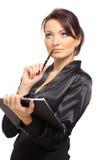 Retrato de um empreendedor fêmea novo fotos de stock