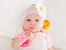 Retrato de um encontro do bebê bienal Imagens de Stock