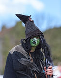 Retrato de um feiticeiro imagens de stock
