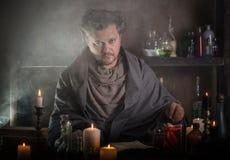 Retrato de um feiticeiro Foto de Stock Royalty Free