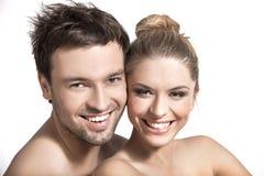 Retrato de um feliz casado Foto de Stock Royalty Free