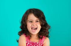 Retrato de um feliz, menina Fotografia de Stock