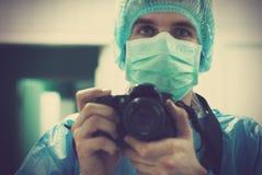 Retrato de um fotógrafo médico Fotografia de Stock