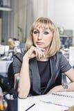 Retrato de um gerente superior da mulher Foto de Stock