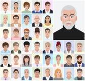 Retrato de um homem adulto, executivos, ilustração do vetor Imagem de Stock