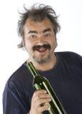 Retrato de um homem bêbedo Fotografia de Stock Royalty Free