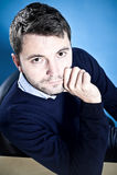Retrato de um homem bem sucedido Fotografia de Stock