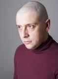 Retrato de um homem bold(realce) Imagem de Stock Royalty Free