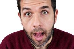 Homem novo surpreendido Imagem de Stock Royalty Free