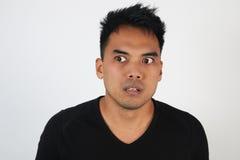 Retrato de um homem chocado fotografia de stock royalty free