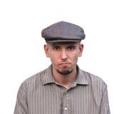 Retrato de um homem com uma expressão resistente Foto de Stock Royalty Free