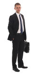 Retrato de um homem de negócio esperto Foto de Stock