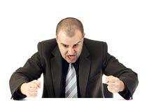 Retrato de um homem de negócio irritado Fotografia de Stock