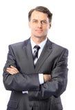 Retrato de um homem de negócio sênior fotografia de stock
