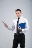 Retrato de um homem de negócios fotografia de stock
