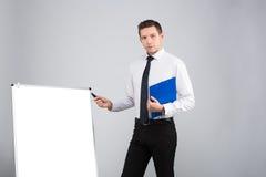 Retrato de um homem de negócios foto de stock