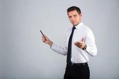 Retrato de um homem de negócios fotos de stock