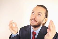 Retrato de um homem de negócios bem sucedido imagens de stock