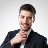 Retrato de um homem de negócios de sorriso imagens de stock