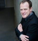 Retrato de um homem de negócios esperto Imagens de Stock Royalty Free