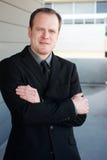 Retrato de um homem de negócios esperto Fotos de Stock