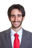 Retrato de um homem de negócios latin com barba Imagens de Stock