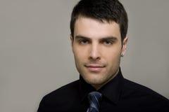 Retrato de um homem de negócios novo fotografia de stock royalty free