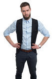 Retrato de um homem de negócios novo com barba Foto de Stock Royalty Free