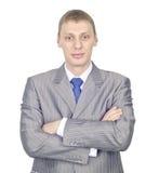 Retrato de um homem de negócios novo confiável Imagem de Stock