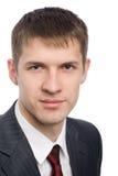 Retrato de um homem de negócios novo considerável fotografia de stock royalty free