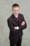 Retrato de um homem de negócios novo feliz Imagens de Stock