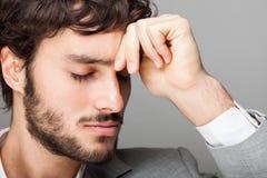 Homem de negócios pensativo Fotografia de Stock