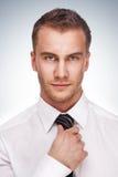 Retrato de um homem de negócio no fundo do inclinação Fotografia de Stock Royalty Free