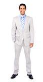 Retrato de um homem de negócios confiável Imagem de Stock Royalty Free