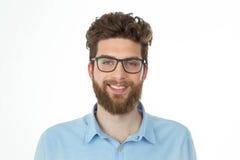 Retrato de um homem de sorriso do lerdo Fotografia de Stock