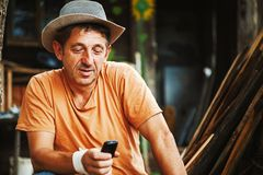 Retrato de um homem do país Imagens de Stock Royalty Free