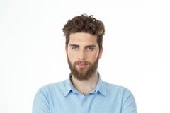 Retrato de um homem farpado sério Imagens de Stock Royalty Free