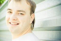 Retrato de um homem feliz novo Imagens de Stock Royalty Free