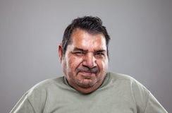 Retrato de um homem idoso fotos de stock