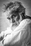 Retrato de um homem indiano idoso Fotografia de Stock Royalty Free