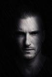 Retrato de um homem misterioso Foto de Stock Royalty Free