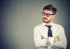 Retrato de um homem de negócio confiável fotos de stock royalty free