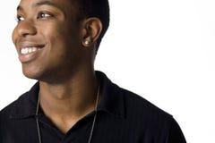 Retrato de um homem negro novo Foto de Stock