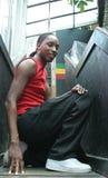 Retrato de um homem negro novo lindo Fotografia de Stock Royalty Free