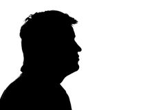 Retrato de um homem no perfil Imagem de Stock